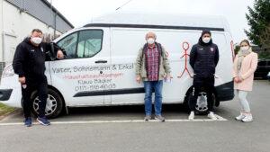 Vater, Sohnemann & Enkel Haushaltsauflösungen unterstützt KFC mit einem Transporter